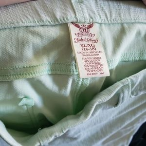 Faded Glory Pants - Pistachio pull on jeggings